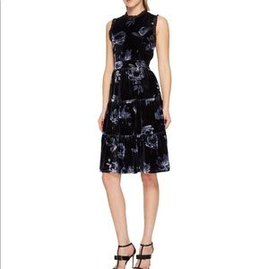 Kate Spade Night Rose Velvet Tiered Dress sz4 NWT